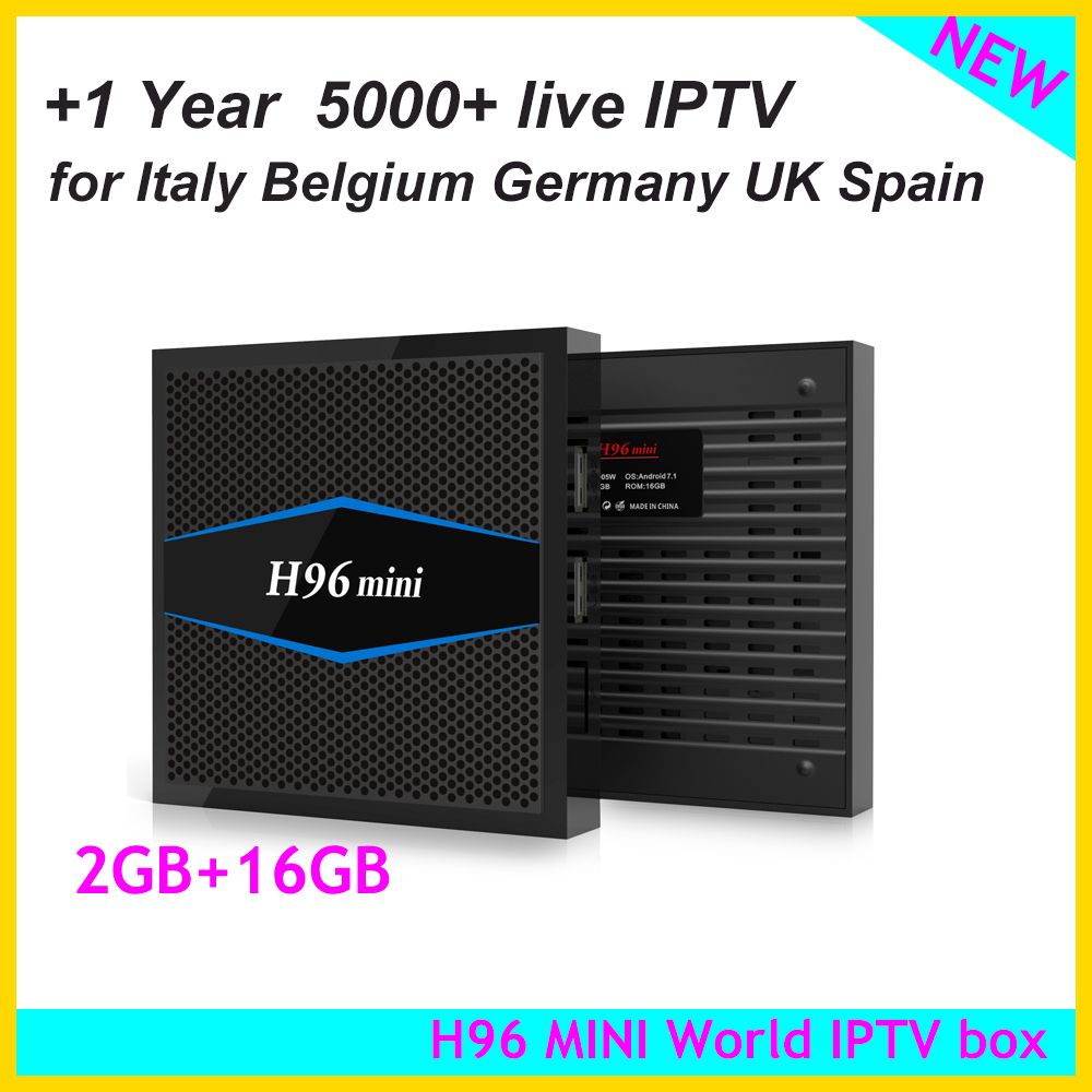 h96 Mini Android 7.1.1 Octa-core Tv Box 2g+16g With 1year Iptv For Italy Germany French Uk Ex-yu Spain Arabic Iptv Have An Inquiring Mind genuine