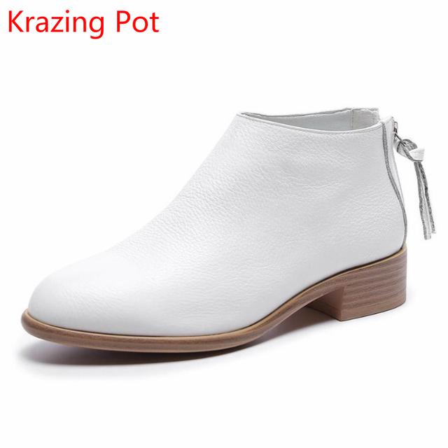 5e621a7cc36 2018-Fashion-Cow-Leather -Zipper-Superstar-Winter-Boots-Women-Round-Toe-Low-Heel-Solid-Concise-Pregnant.jpg 640x640.jpg