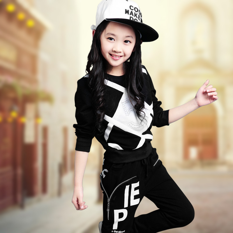 Children Girls Clothing Set Children's Sport Suits School Clothing For Spring And Autumn 2017 New 4pcs set ar school tutule super augmented reality high and new technology teach color for children book colorful