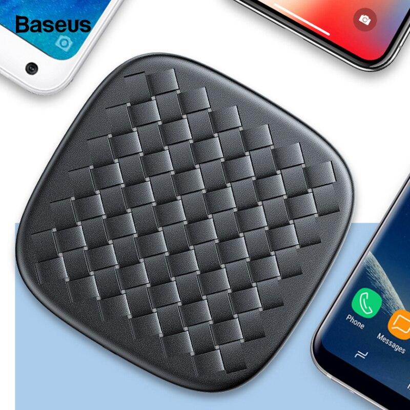 Baseus 10 W QI Drahtlose Ladegerät Für iPhone Xs Max X Samsung Huawei Mate 20 Pro Xiaomi Mix 3 2 s Schnelle Wirless Drahtlose Aufladen Pad