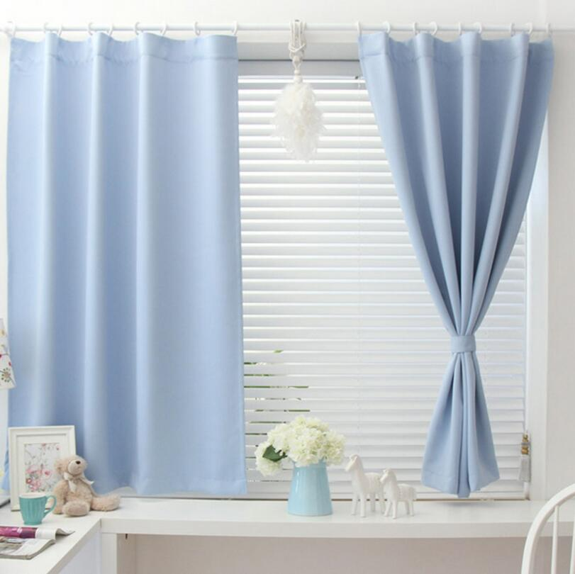 Custom Made Fashion Brief Style 90% Shade Effiency Curtain Blackout Curtains for Living Room Bedroom Window Balcony Solid Color