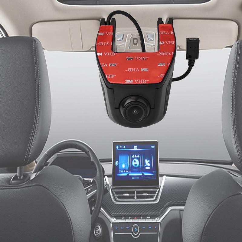 Câmera completa do painel do groothoek de hd 1080 p dvr automático ingebouwde wifi 160 graden, cam do traço de voertuig encontrou g-sensor, gravação do laço df