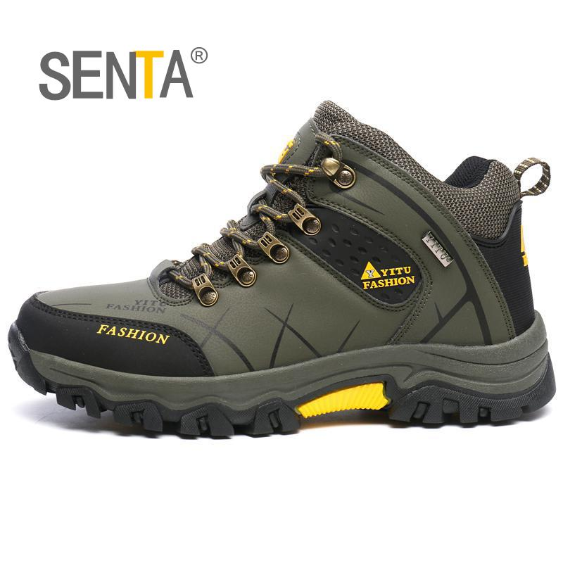 9ad20b5088d SENTA Hot Hiking Boots Men Outdoor Spring/Summer Leather Hiking ...