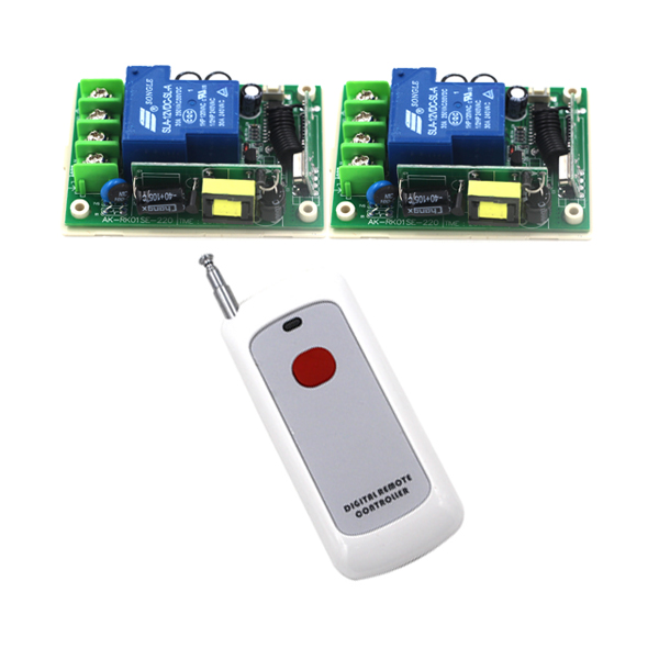 Free Shipping 2 Working Ways Remote Control ON/OFF AC 85V-250V 220V 110V 30A Switch Controller For Light Lamp SKU: 5295