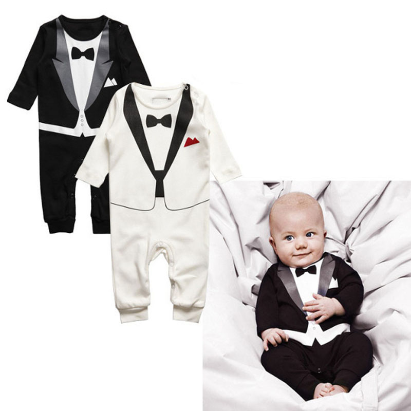 Toddler Baby Boy   Rompers   Spring Baby Clothing Sets Gentleman Infant Jumpsuits Baby Boy Clothes Newborn Baby Clothes