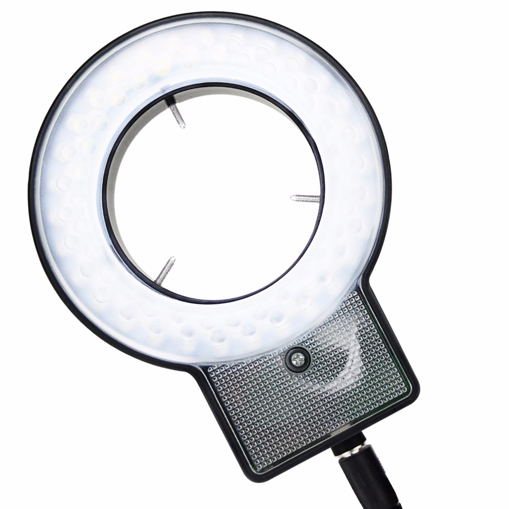 Optical instruments for Stereo Microscope with 4-Zone Quadrant Control 40~60mm Diameter Mount Ring 60 LED Microscope Ring Light ada quadrant