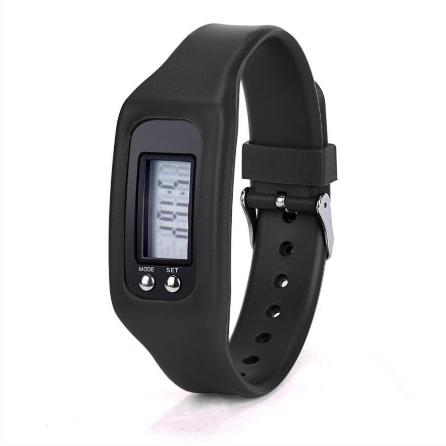 Splendid новинка 2016 поступление бренд цифровой ЖК-дисплей Шагомер Run шаг пешком счетчик калорий Часы Браслет Reloje женский