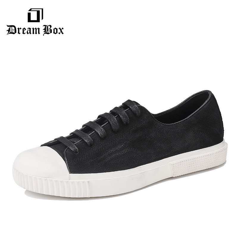 dreambox2017 Summer new European and European style real leather breathable leisure low help line shoes men's shoes dreambox summer leisure trends in europe and america mesh breathable shoes set foot thick soled shoes