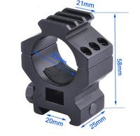 30mm Aluminum Alloy Guide Rail 21mm Flashlight Tube Clamp Three Pin High Conversion Bracket Fastener
