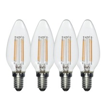 HRSOD 4 X E14 2W 4W 3000K 200LM Warm White Light Led Candle Bulb,Non-dimmable Spot Bulb  Ampoule LED (AC220V)