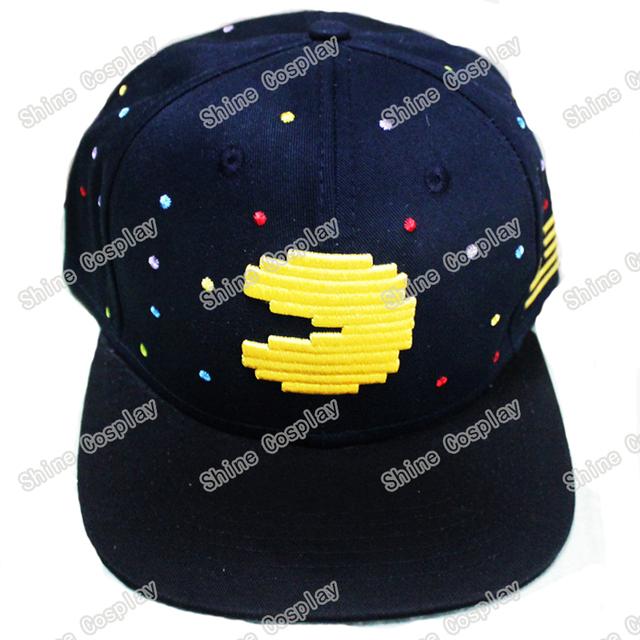 JUEGOS PACMAN Casquillos Del Snapback Adulto Hip-Hop Sombreros Gorra de Béisbol Negro Sombrero de Payaso para Hombres Mujeres