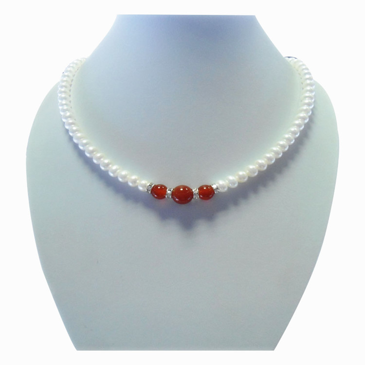 Eternal wedding Women Gift word 925 Sterling silver real 6-7mm full flat natural pearl stone necklace for her mother on MothersEternal wedding Women Gift word 925 Sterling silver real 6-7mm full flat natural pearl stone necklace for her mother on Mothers