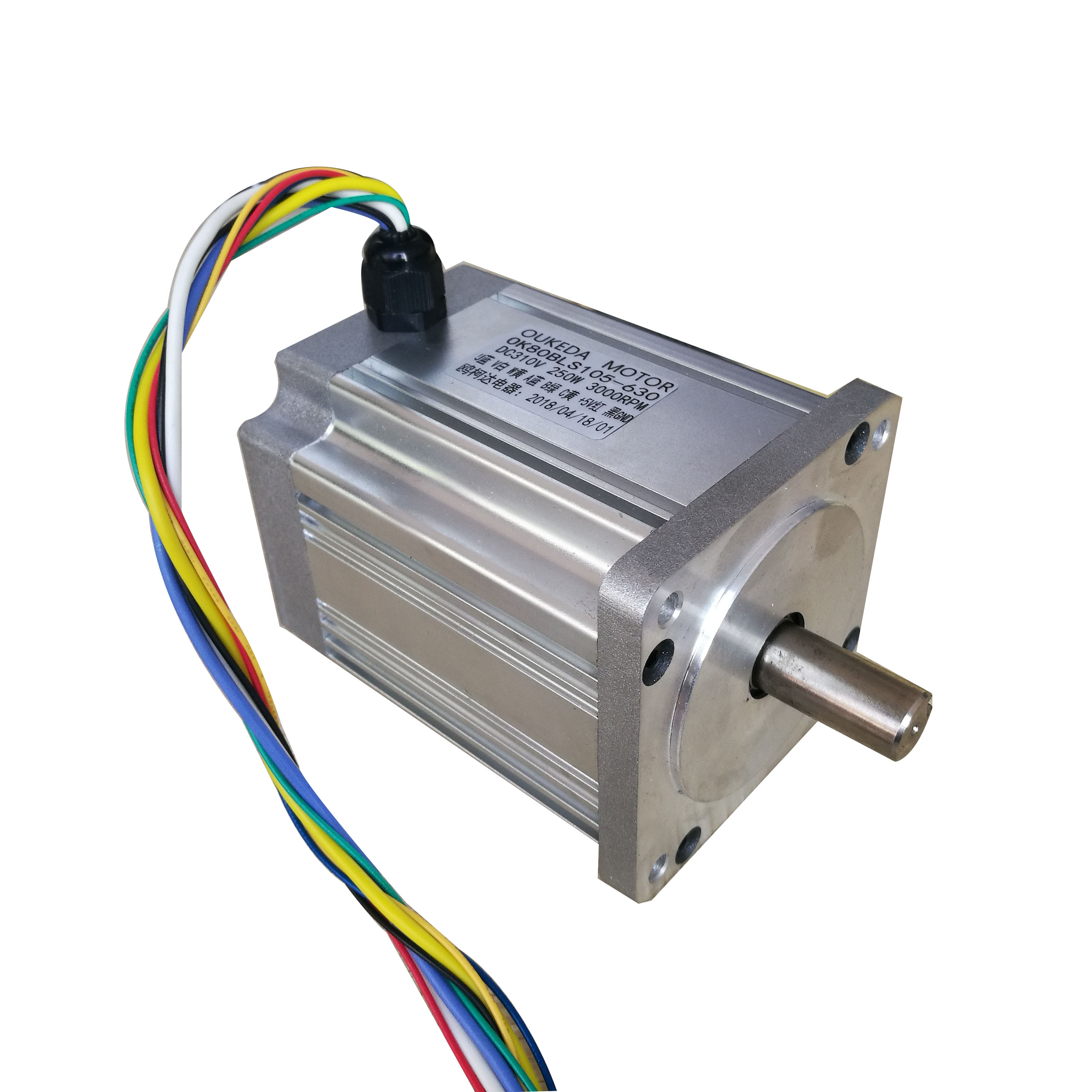 DC220V <font><b>250W</b></font> 3000RPM 0.8Nm 80MM <font><b>DC</b></font> Permanent Magnet <font><b>Brushless</b></font> <font><b>Motor</b></font> Precision Instrument / Machinery / DIY Power Accessories image