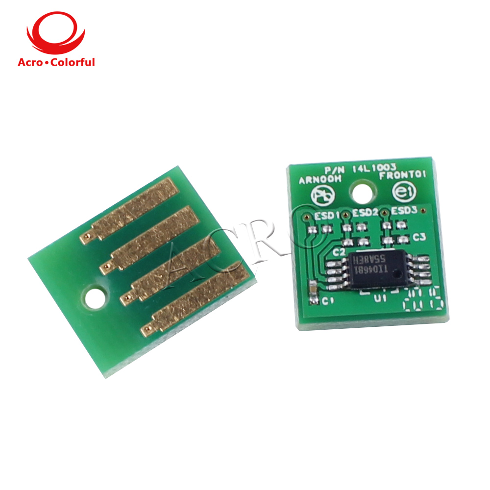 Um conjunto 80C2HK0 80C2HC0 80C2HM0 80C2HY0 chip de toner para Lexmark cx410e/de/dte CX510de/dhe/dthe recarga de cartucho de impressora a laser