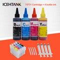 Картриджи ICEHTANK для принтеров Epson T0731 Stylus TX210 TX213 TX220 TX228 TX300F TX400  4 цвета  100 мл