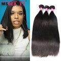 Msbeauty cabelo peruano virgem cabelo liso 3 bundles virgem grau 8a não transformados feixes de cabelo humano peruano cabelo liso