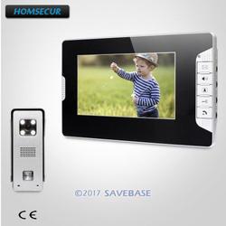 HOMSECUR 7 inch проводной видео домофонов Интерком охранника с Intra-монитор аудио домофон