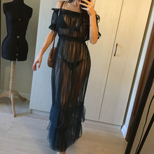9cfb6156b3f20 Long See Through Night Dress Promotion-Shop for Promotional Long See ...