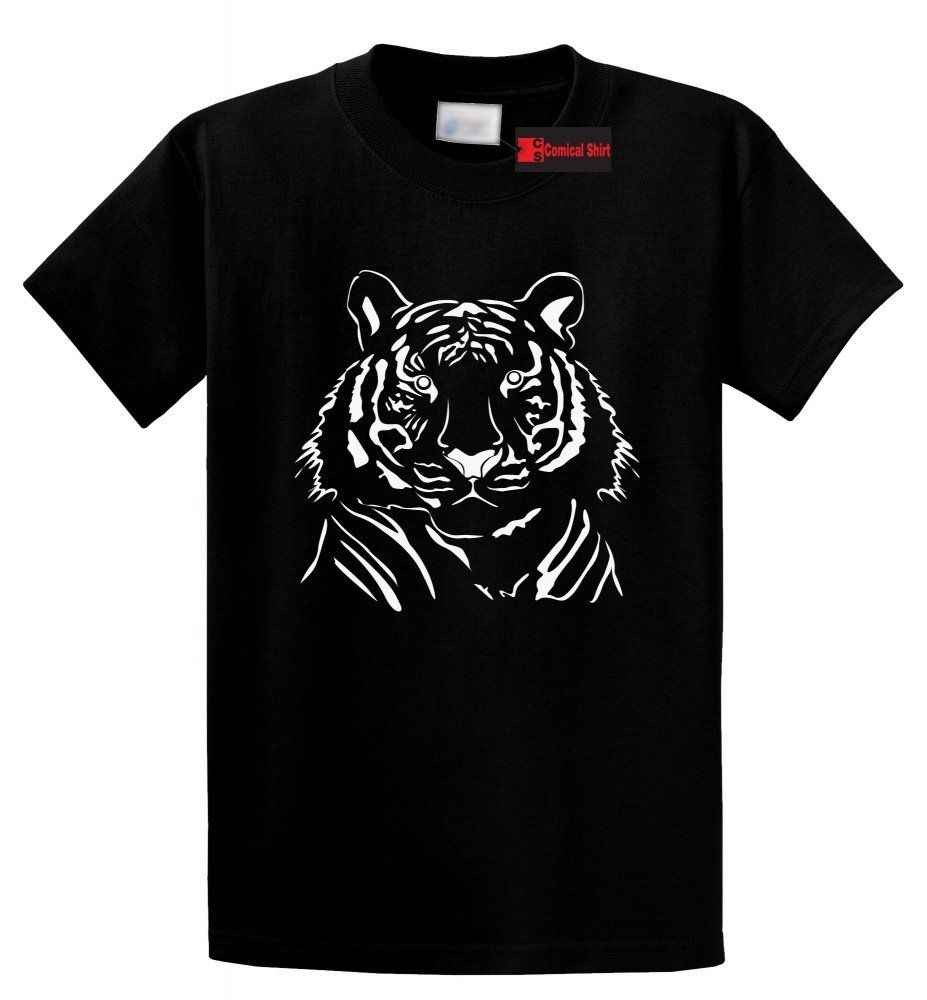 Wajah Harimau Tee Penyayang Binatang Tiger Gambar T Shirt Kartun T Shirt Pria Uni Baru Fashion Tshirt Gratis Pengiriman Lucu