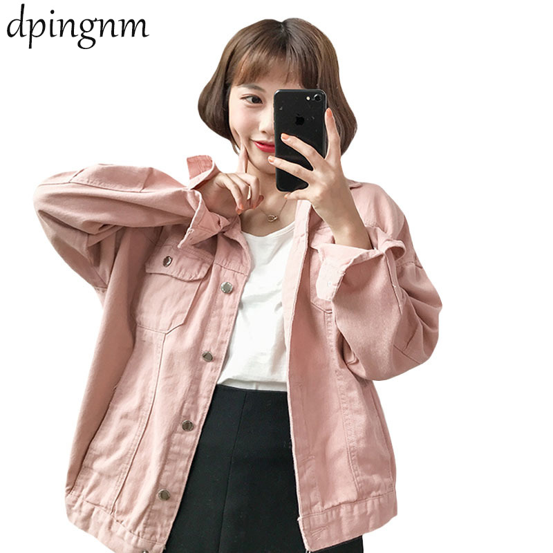 Women    Basical Jeans Jacket Coat Bleach Full Sleeves Single Breast Slim Women Denim Jacket