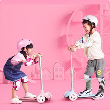 XIAOMI Children Balance Scooter Child Kick Scooter Baby Walker Balance Learning 3-Wheels Foot Scooter for 3-6 Year Old Child