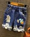 Envío libre, pantalones vaqueros de los niños shorts niños pantalones cortos de mezclilla verano vaquero desgaste pantalones cortos de ocio de dibujos animados mickey pantalones cortos 2-7años