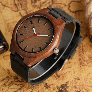 Image 2 - Mens Analog Nature Wood Quartz Fashion Women Sport Watches Genuine Leather Band Bamboo Casual Wristwatch Relojes Montres
