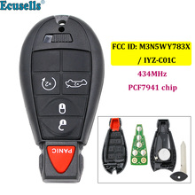 4+Panic 5 buttons keyless entry Remote Key 433MHZ with PCF7941 chip For Chrysler 300 Dodge Charger FCC ID: M3N5WY783X/ IYZ-C01C