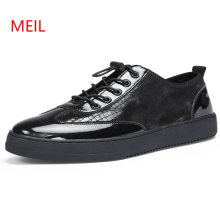 Spring Autumn Classic Style Men Plate Shoes Fashion Man Students Casual Leather Korea Mens Sneakers Footwear