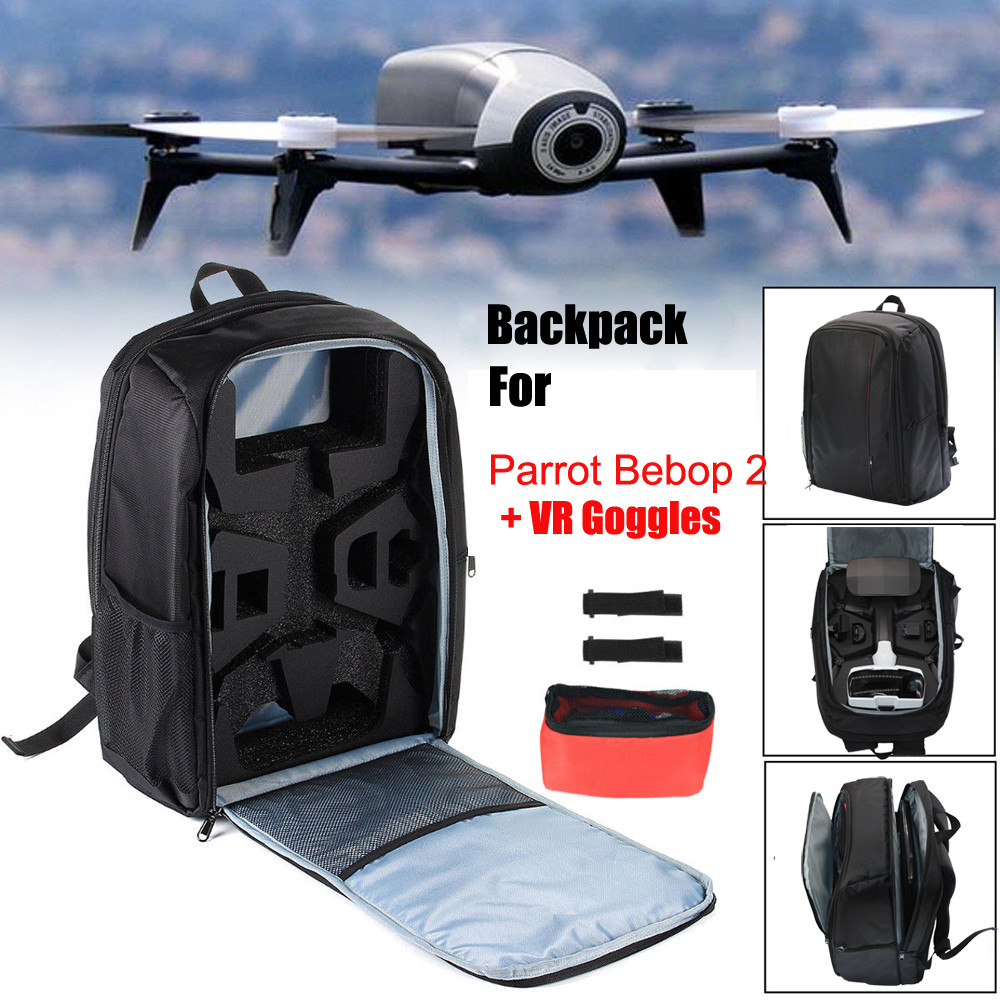 Us 41 35 29 Off Bag Backpack Portable Shoulder Carrying Case For Parrot Bebop 2 Fpv Drone In Parts Accessories From Toys Hobbies On