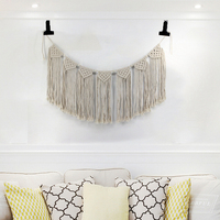D Knitted Macrame Wall Art Hanging Handmade Cotton wall hanging tapestry Hand Woven tapestry Bohemian Wedding Party Room Decor