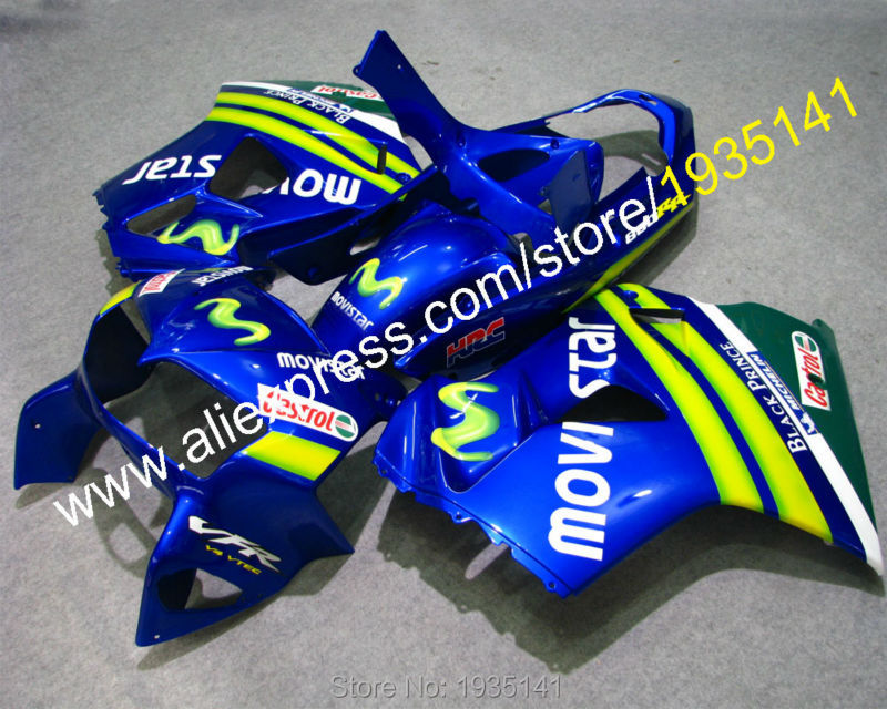 Горячие продаж,Кастрол Комплект для Honda VFR800 98 99 00 01 ВФР 800 VFR800RR 1998 1999 2000 2001 ПВП 800RR тела послепродажного обтекатель комплект