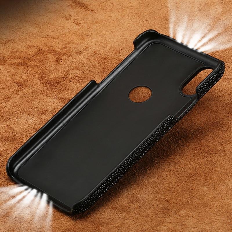 Étui de téléphone pour xiaomi mi 5 s 6 8 9 A1 A2 lite Max 2 3 mi x 2 s perle naturelle peau de poisson couverture pour rouge mi Note 4 4X 4A 5 Plus étui - 5