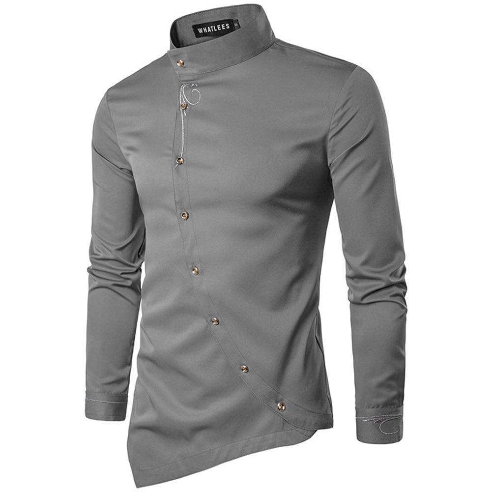 Helisopus Luxury Mens Shirts Stylish Slim Fit Mens Shirts Long
