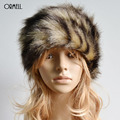 ORMELL Women's Winter Hats With Faux Fur Female Cap Mink Fur Knitted Caps Pineapple Hat Hold Ears Mink Fur Hat For Women