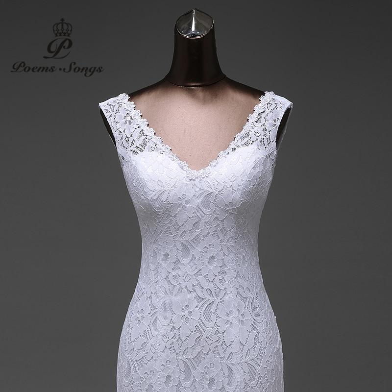 Gratis frakt glänsande satin och spets blommor väldigt sexig - Bröllopsklänningar - Foto 2
