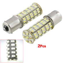 2 Pcs White 1156 P21W Ba15s 68 SMD LED Brake Tail  Rear Light Bulb Lamp