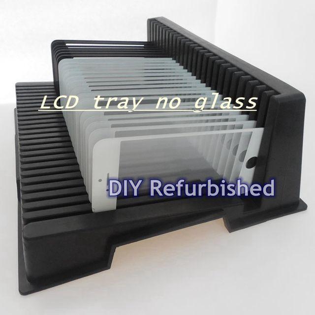 DHL livre Titular bandeja ESD Anti Estática Anti-estático LCD LCD suporte da bandeja de Bandeja para o Telefone Ferramenta de Remodelação lcd NENHUM vidro