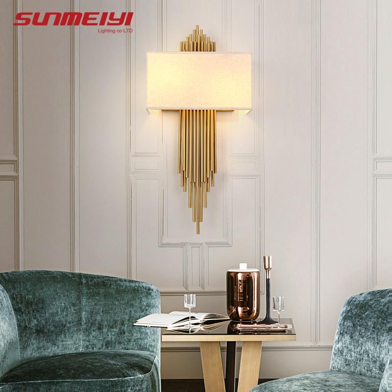 Современные настенные лампы для дома, светодиодсветильник светильники E14 для лестниц, спальни, гостиной, коридора