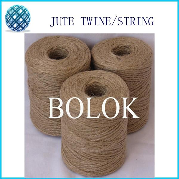 Naravna jutna vrvica 2-slojna sukana (Dia: 1,5 mm 110 jardov / - Umetnost, obrt in šivanje - Fotografija 1