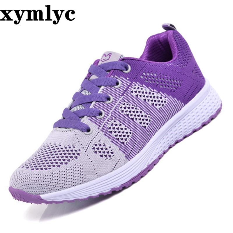 New 2019 Spring Summer Breathable Comfortable Shoes Woman Flats Soft Mesh Fashion Woman's Casual Brand Sneakers Shoes
