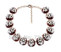 Free Shipping Wholesale Jewelry Ladies Crystal Collar Necklace