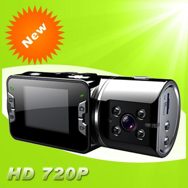 HD 720P dual cameras Car dvr recorder with Night Vision