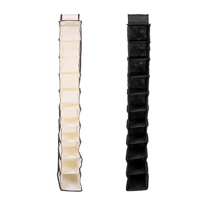 10 Pockets Non-woven Fabric Dust-proof Shoe Clothes Hanging Storage Rack Shelf Door Wardrobe Hanger Organizer