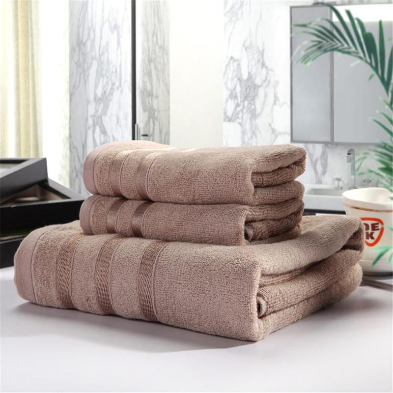 ANCRV Bamboo Fiber 3Pcs/Set Face Bath Towel Set Bathroom ...