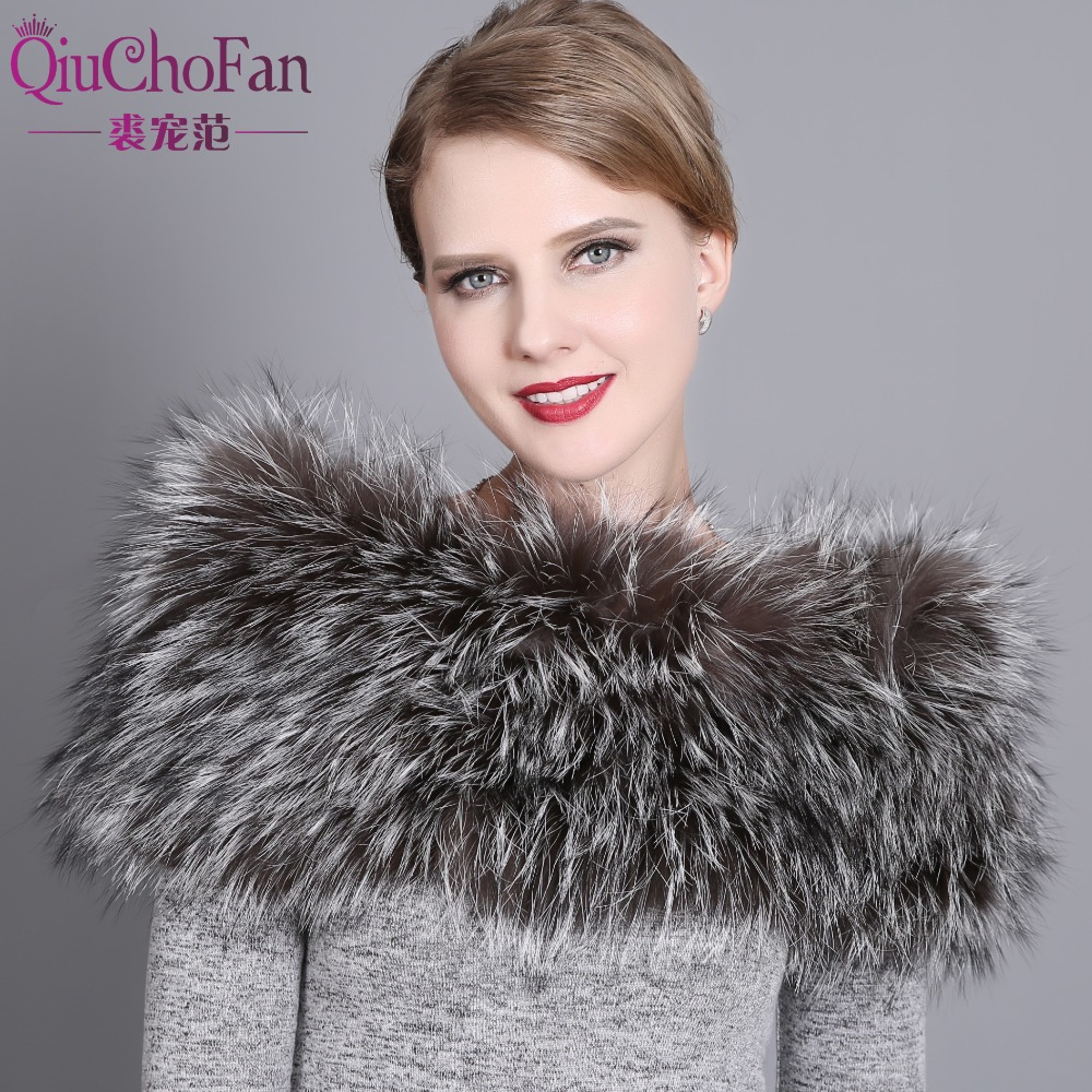 Women's Winter Fur Scarf Shawl Real Fox Fur Wraps Women Winter Scarf Female Warm Grade Natural Fur Wrap Fox Stole free shipping
