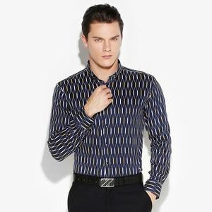 Image 4 - Argyle camisas casuales a cuadros para hombre, camisa de vestir de manga larga con cuello abotonado, 100% algodón, de alta calidad