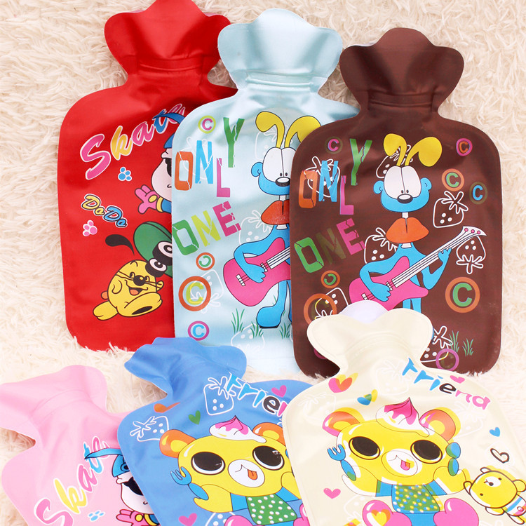 1pc 25cm*14cm Cartoon Animals Printed PVC Explosion-proof PVC Hot Water Bag For Kids Adults Hand Warmer Storage Water Bag 1783HW lovely cartoon charging electric hot water bag environmental protection material safety explosion proof anti warm water bag
