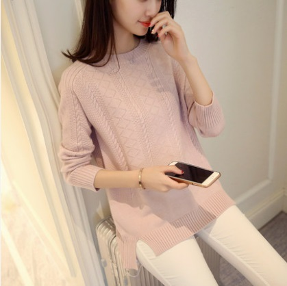 New style promotion 2019 Women oversized Sweater Female Winter Knitted Sweaters and pullovers Girls Long Sleeve Pull femme
