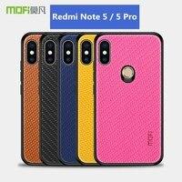Xiaomi Redmi Note 5 Cas Mondial Version Mofi Cas de Couverture antichoc Hommes D'affaires Couverture Arrière pour Redmi Note 5 Pro cas